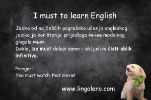 I must to learn English